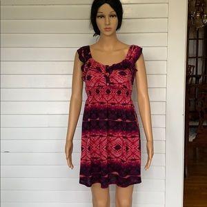 Dresses & Skirts - Tie dye look dress with ruffles